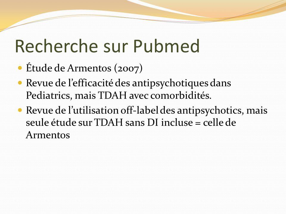 Recherche sur Pubmed Étude de Armentos (2007)