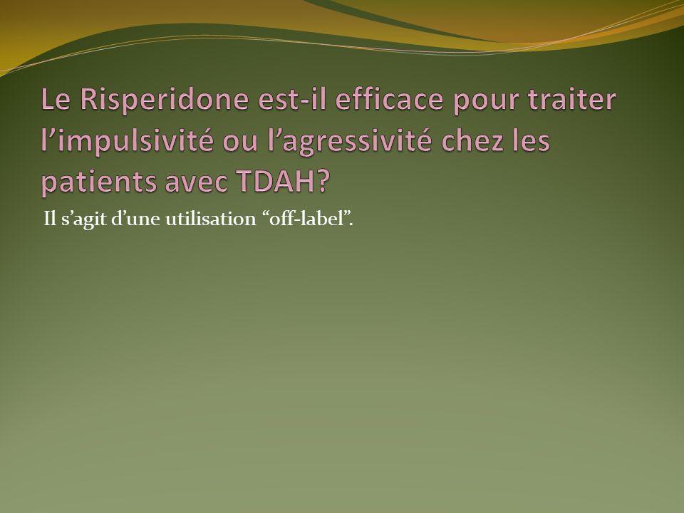 Le Risperidone est-il efficace pour traiter l'impulsivité ou l'agressivité chez les patients avec TDAH