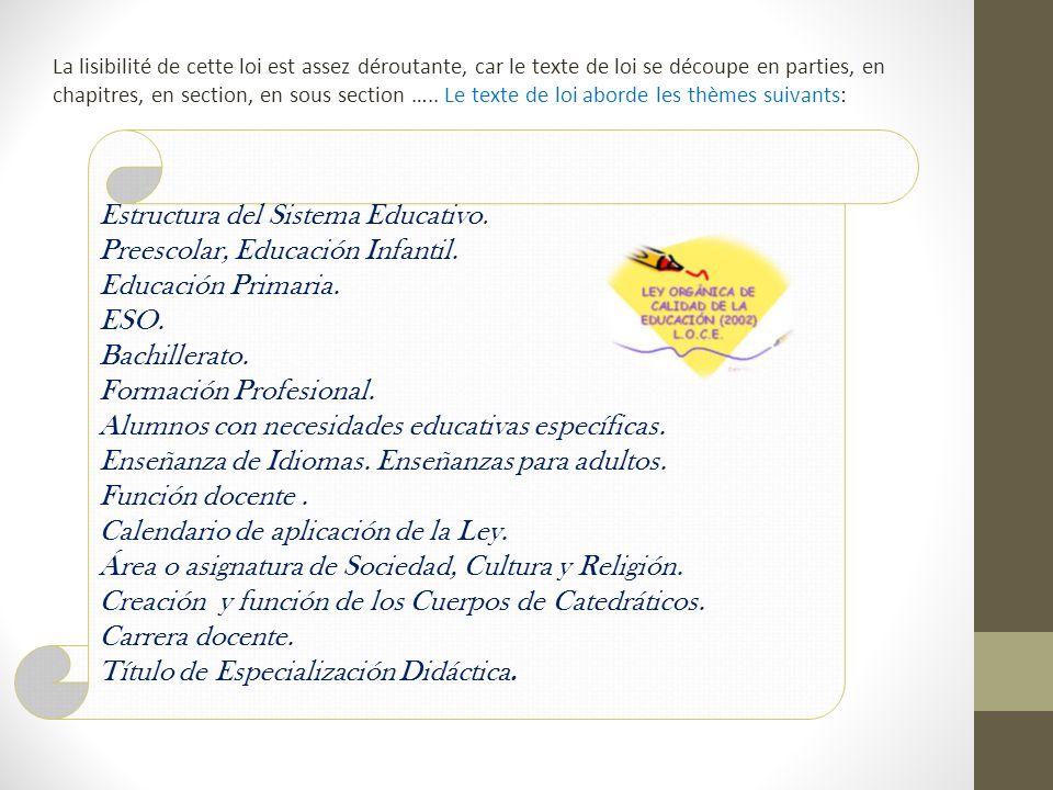 Estructura del Sistema Educativo. Preescolar, Educación Infantil.
