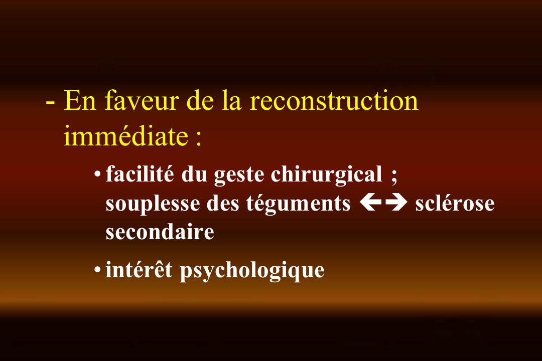 - En faveur de la reconstruction immédiate :
