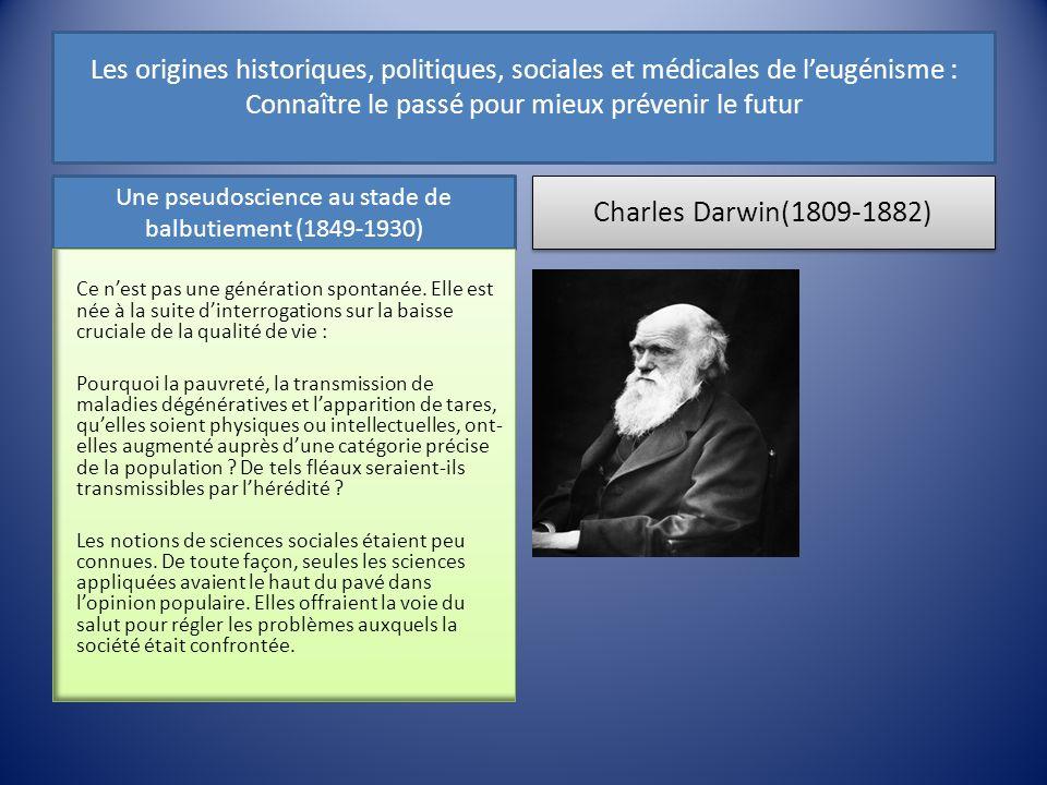 Une pseudoscience au stade de balbutiement (1849-1930)