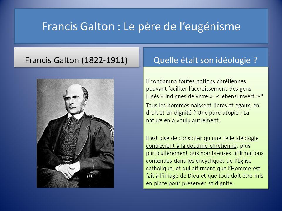 Francis Galton : Le père de l'eugénisme
