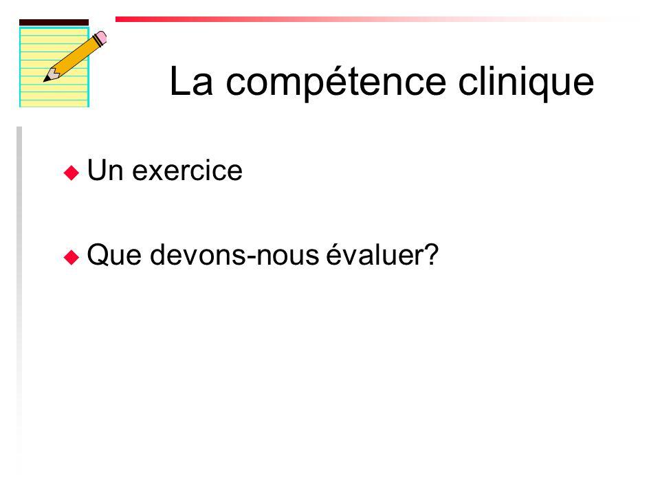 La compétence clinique