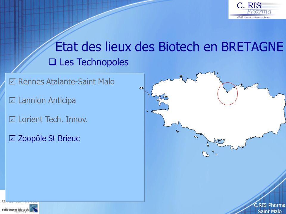 Etat des lieux des Biotech en BRETAGNE