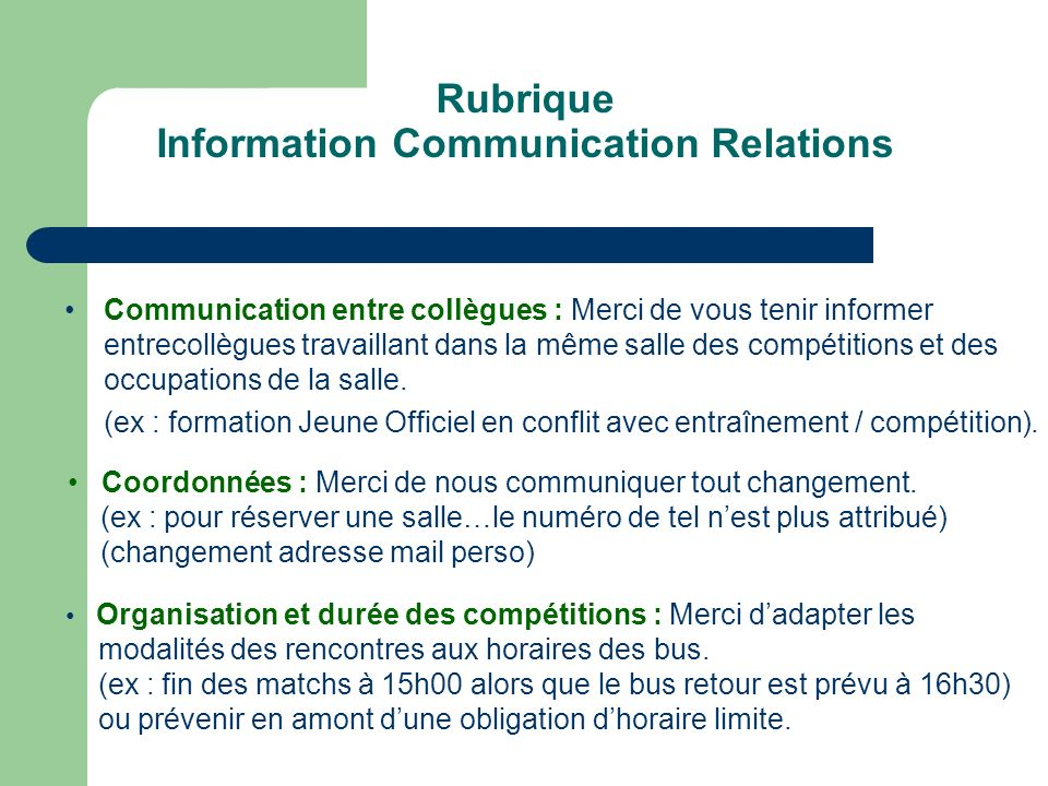 Information Communication Relations