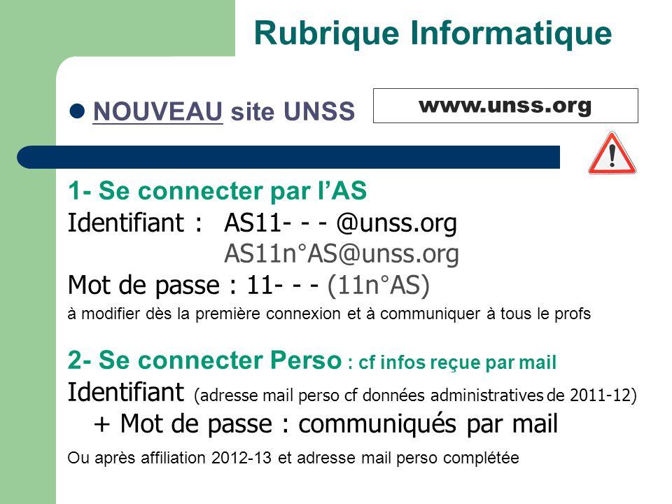 Rubrique Informatique
