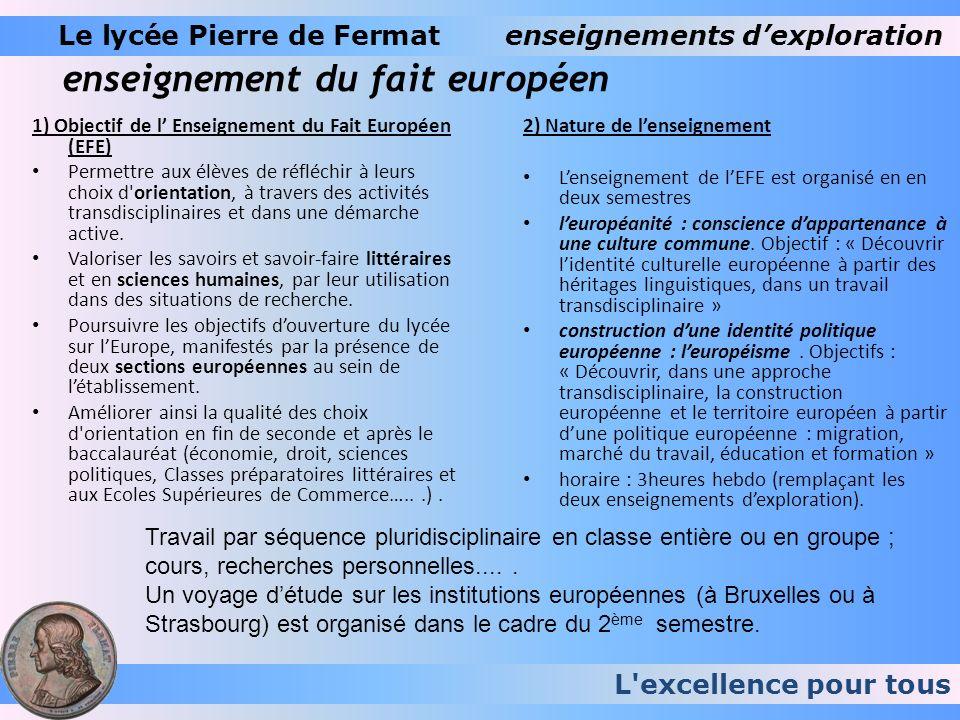 enseignement du fait européen