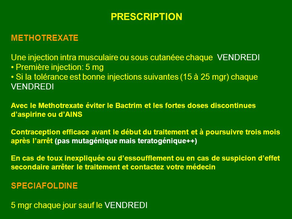 PRESCRIPTION METHOTREXATE