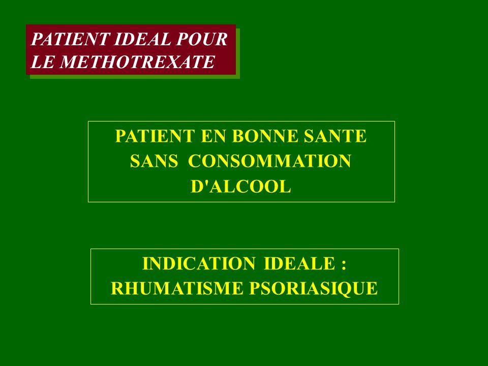 PATIENT EN BONNE SANTE SANS CONSOMMATION D ALCOOL