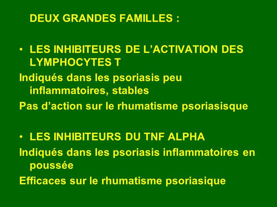 DEUX GRANDES FAMILLES :