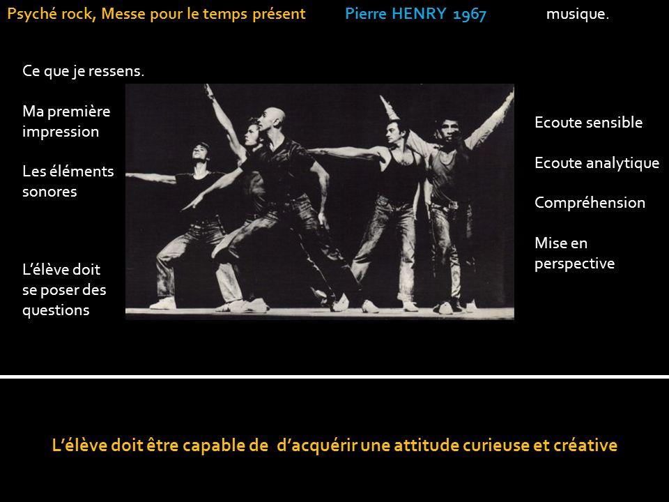 Psyché rock, Messe pour le temps présent Pierre HENRY 1967 musique.