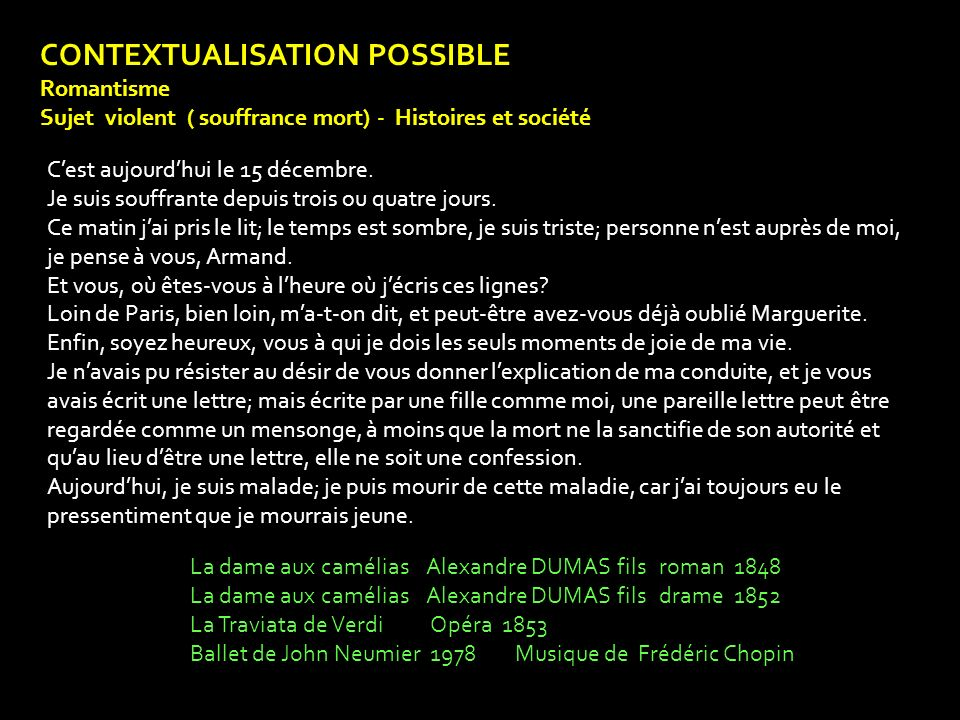 CONTEXTUALISATION POSSIBLE