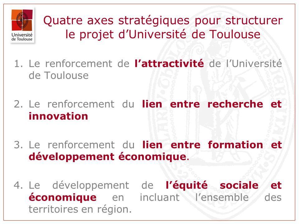 Quatre axes stratégiques pour structurer le projet d'Université de Toulouse