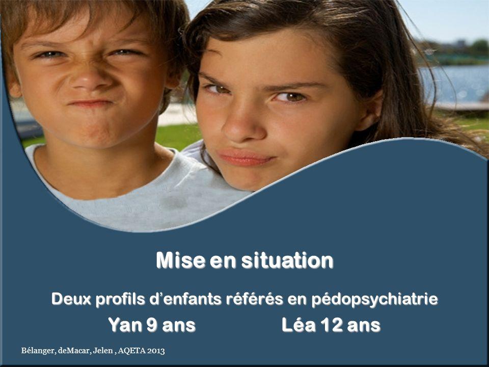 Deux profils d'enfants référés en pédopsychiatrie
