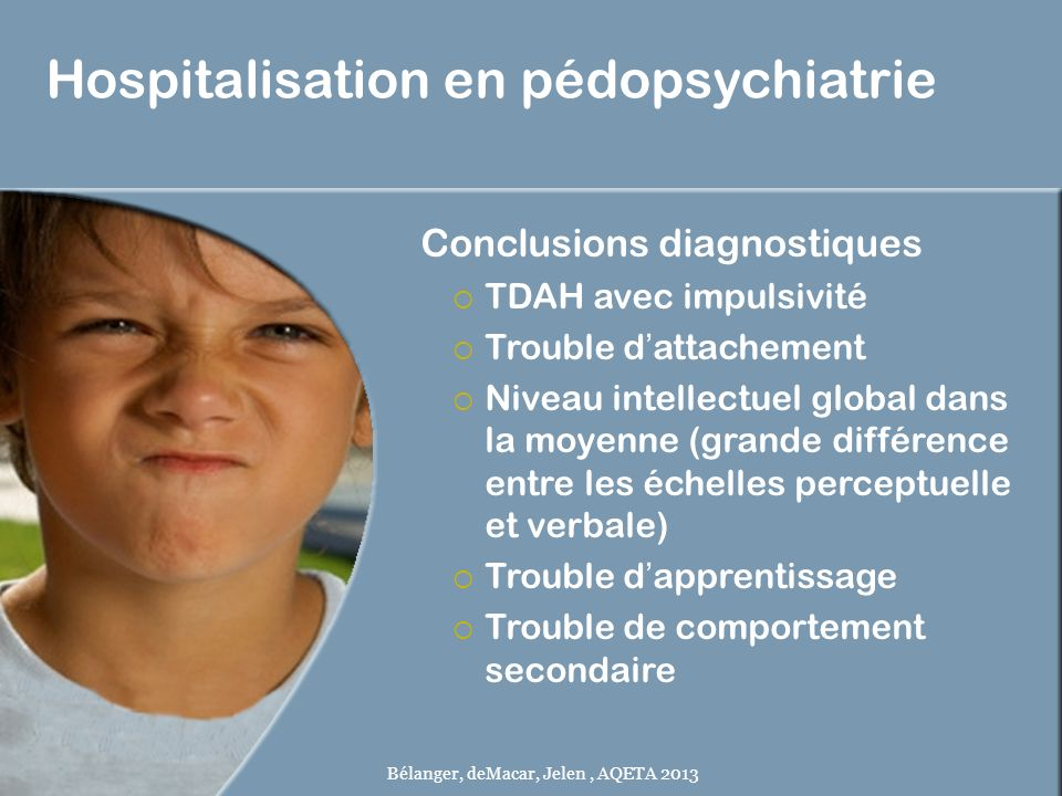 Hospitalisation en pédopsychiatrie