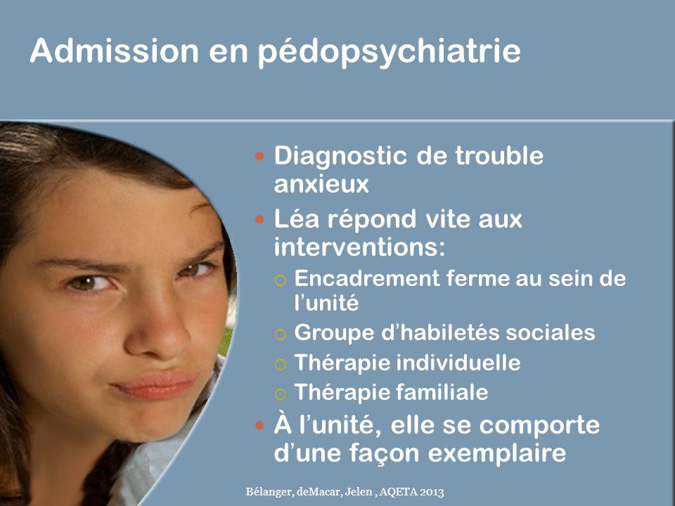 Admission en pédopsychiatrie