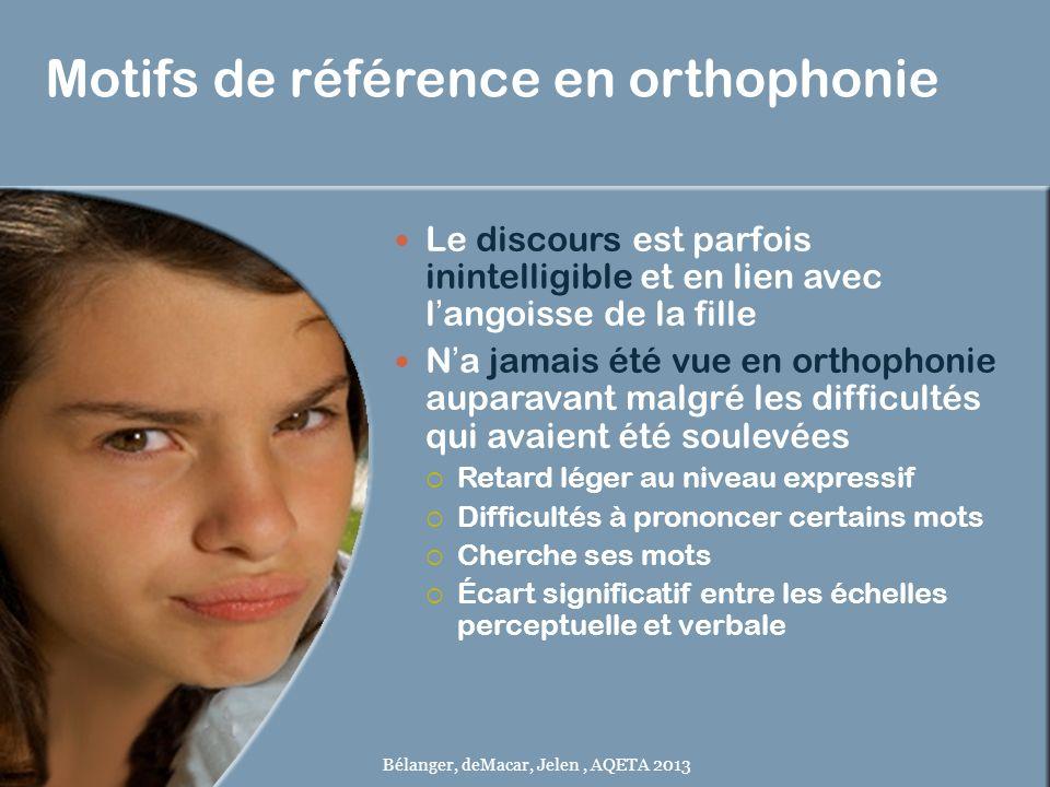 Motifs de référence en orthophonie