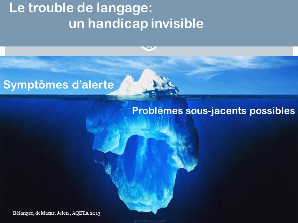 Le trouble de langage: un handicap invisible