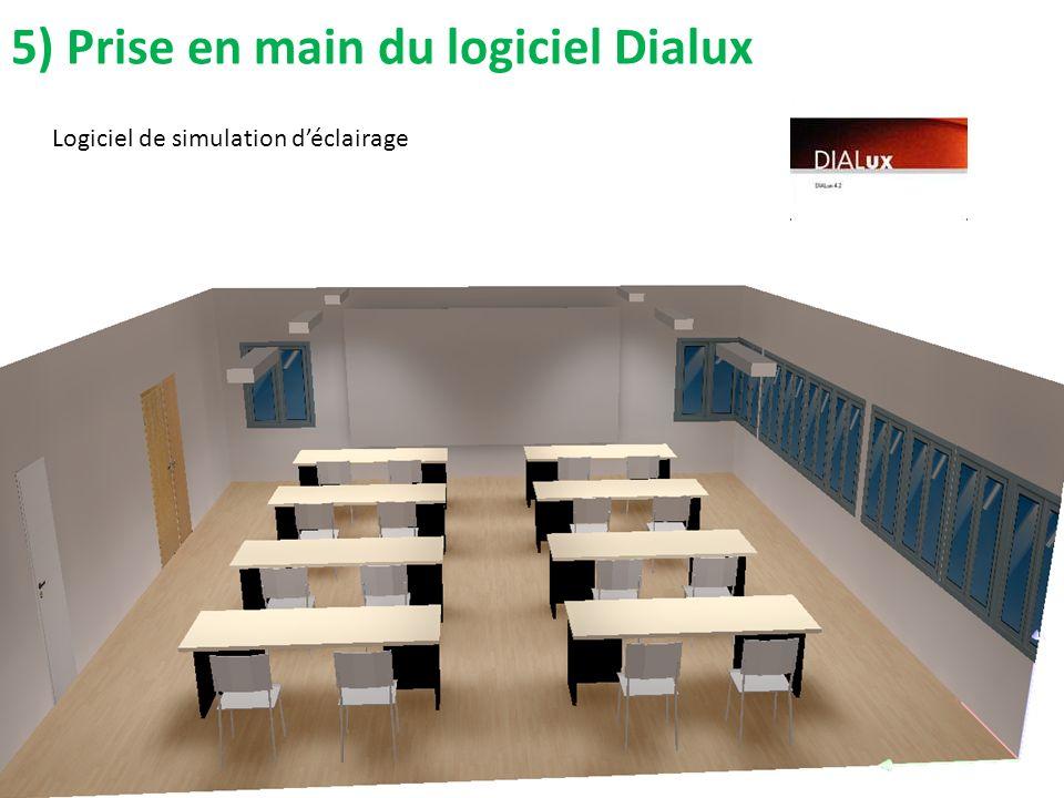 5) Prise en main du logiciel Dialux
