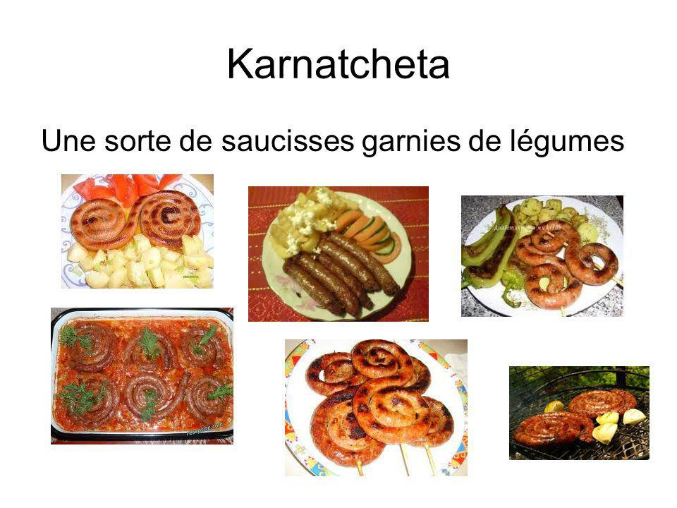 Karnatcheta Une sorte de saucisses garnies de légumes