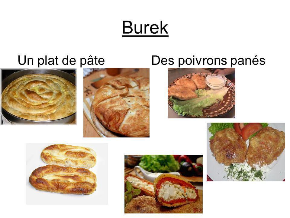 Burek Un plat de pâte Des poivrons panés
