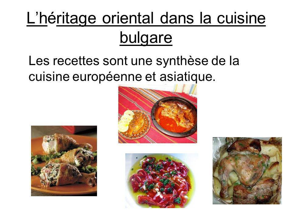 L'héritage oriental dans la cuisine bulgare