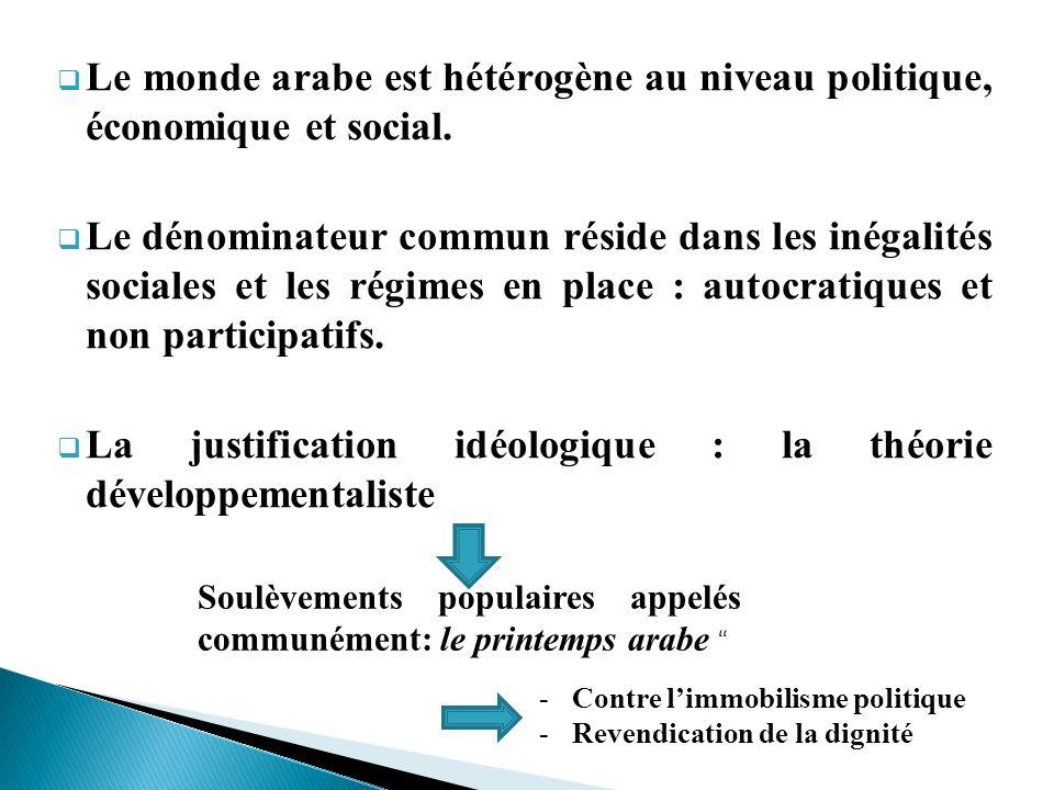 La justification idéologique : la théorie développementaliste