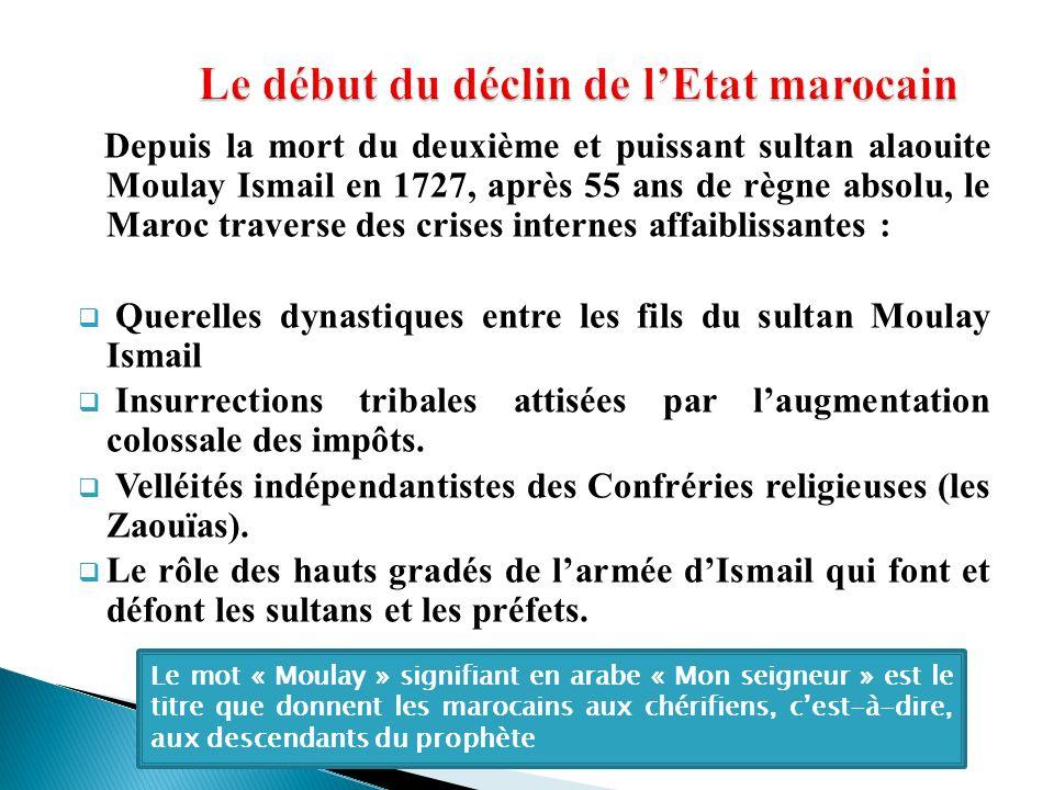 Le début du déclin de l'Etat marocain