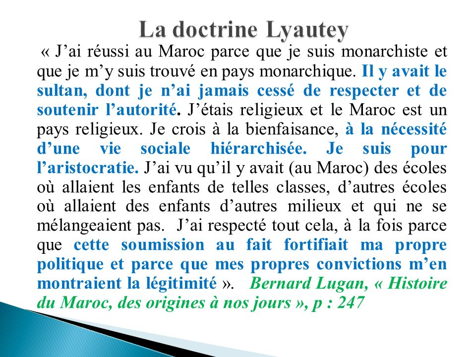 La doctrine Lyautey