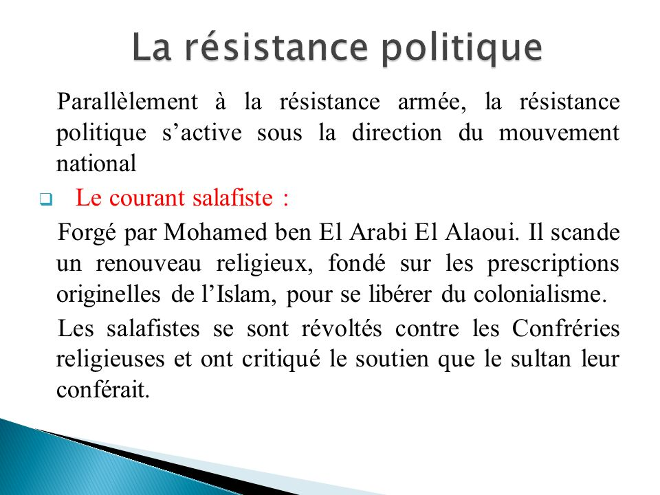 La résistance politique
