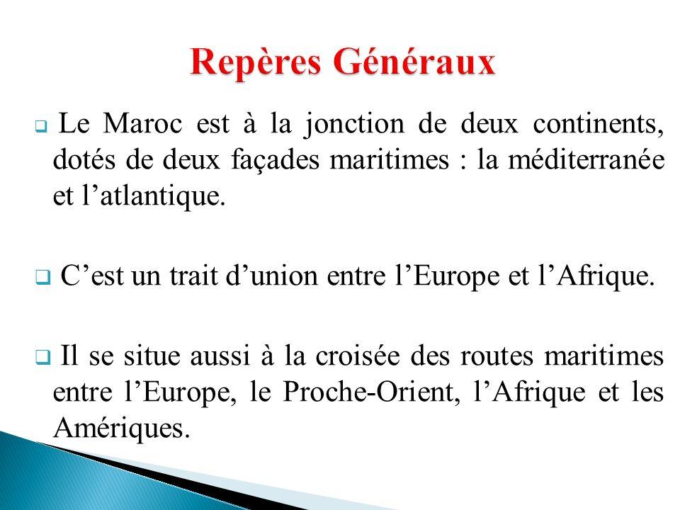 Repères Généraux C'est un trait d'union entre l'Europe et l'Afrique.