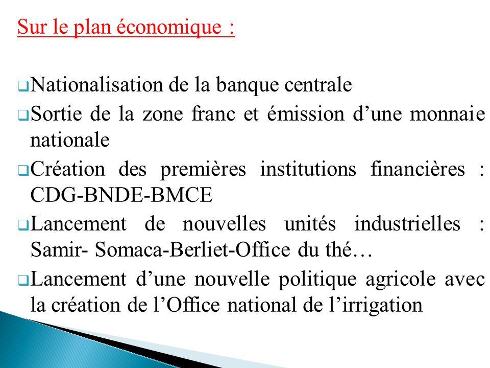 Sur le plan économique :