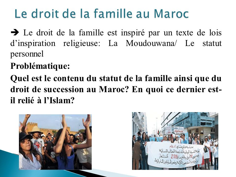 Le droit de la famille au Maroc