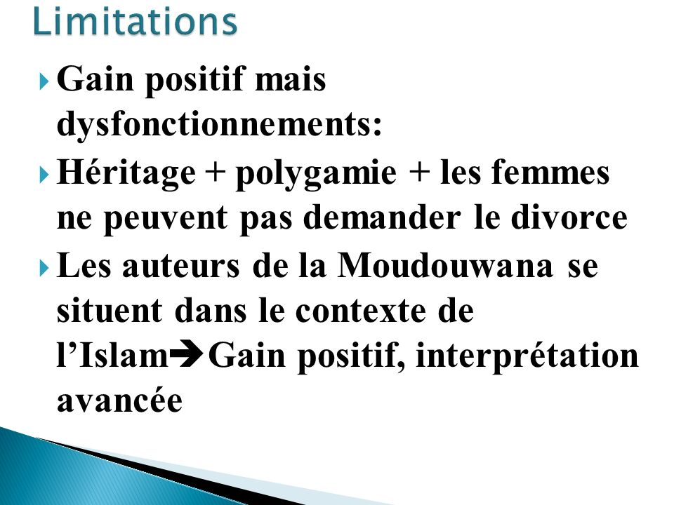 Limitations Gain positif mais dysfonctionnements: