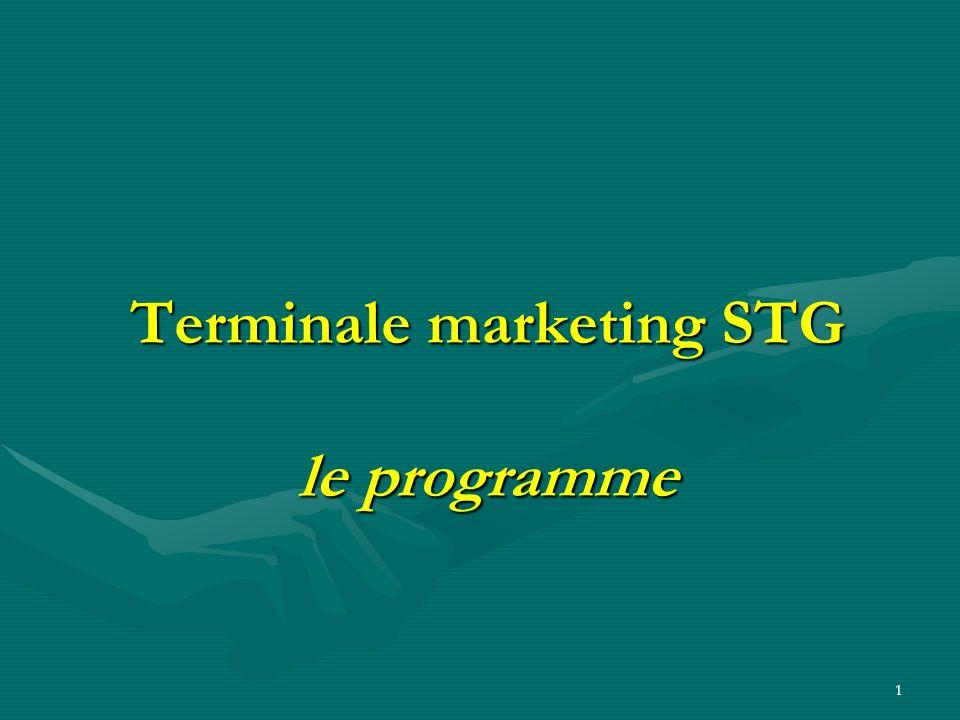Terminale marketing STG le programme