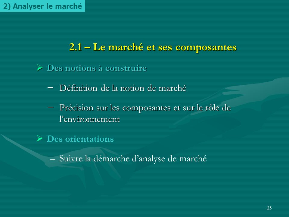 2.1 – Le marché et ses composantes