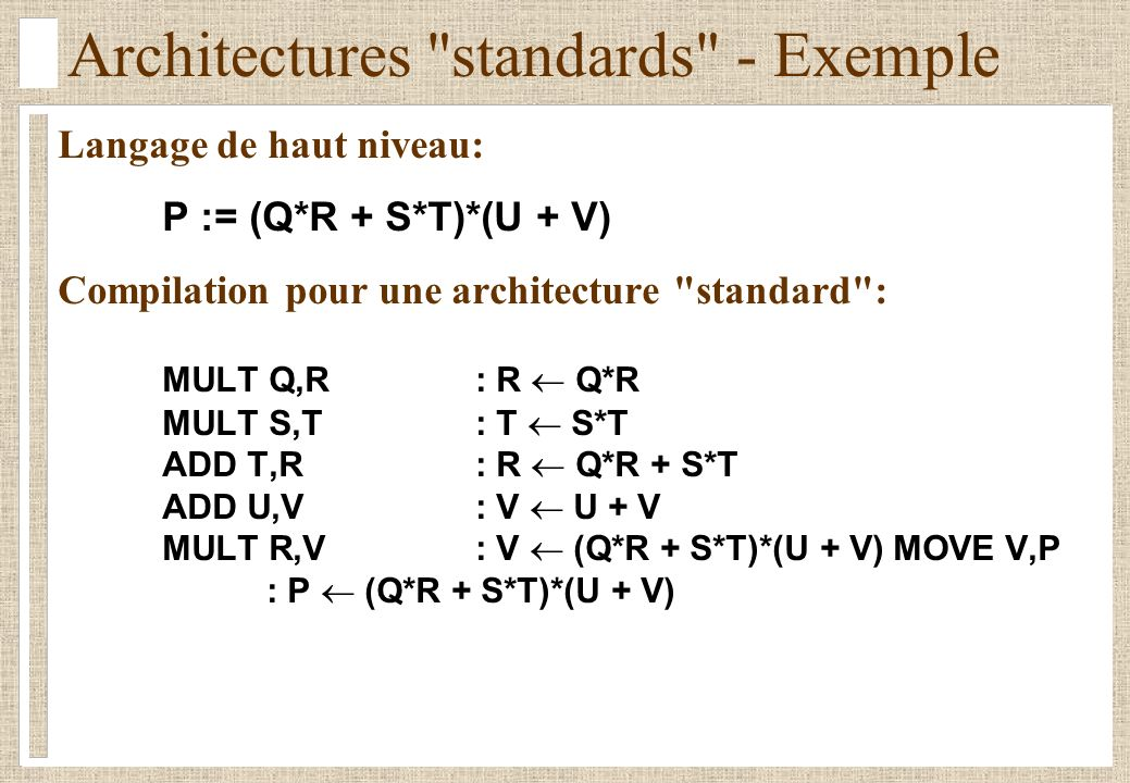 Architectures standards - Exemple