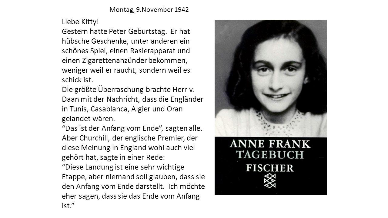 Montag, 9.November 1942