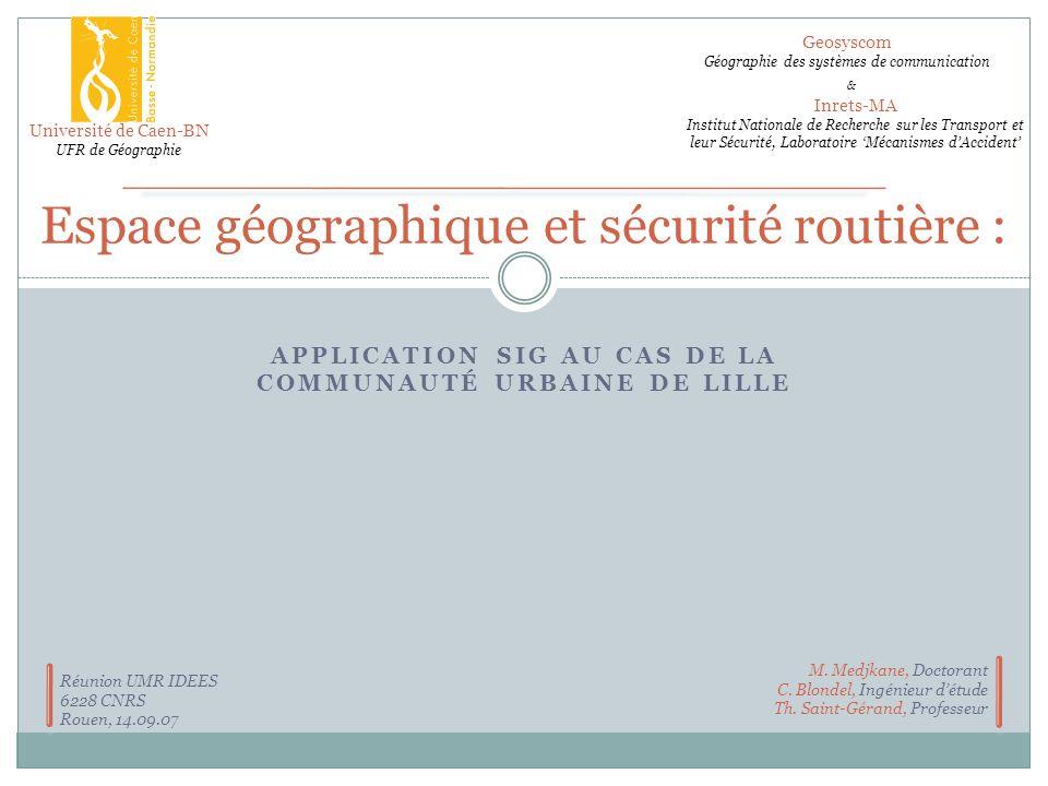 Espace géographique et sécurité routière :