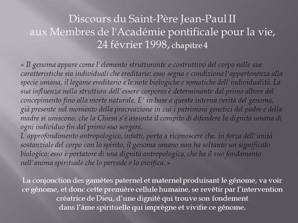 Discours du Saint-Père Jean-Paul II