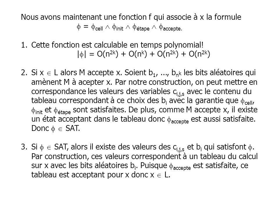 Nous avons maintenant une fonction f qui associe à x la formule