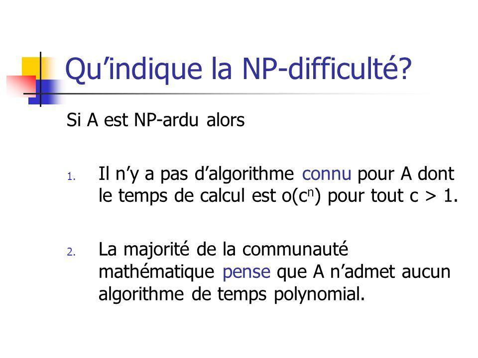 Qu'indique la NP-difficulté