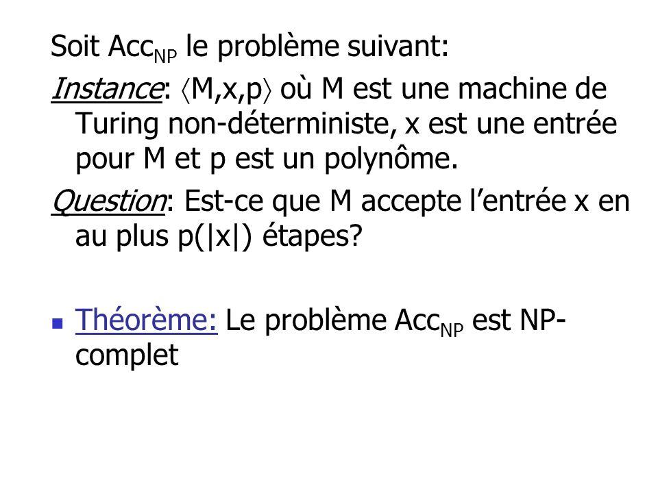 Soit AccNP le problème suivant: