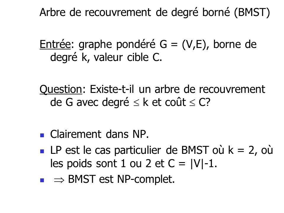 Arbre de recouvrement de degré borné (BMST)