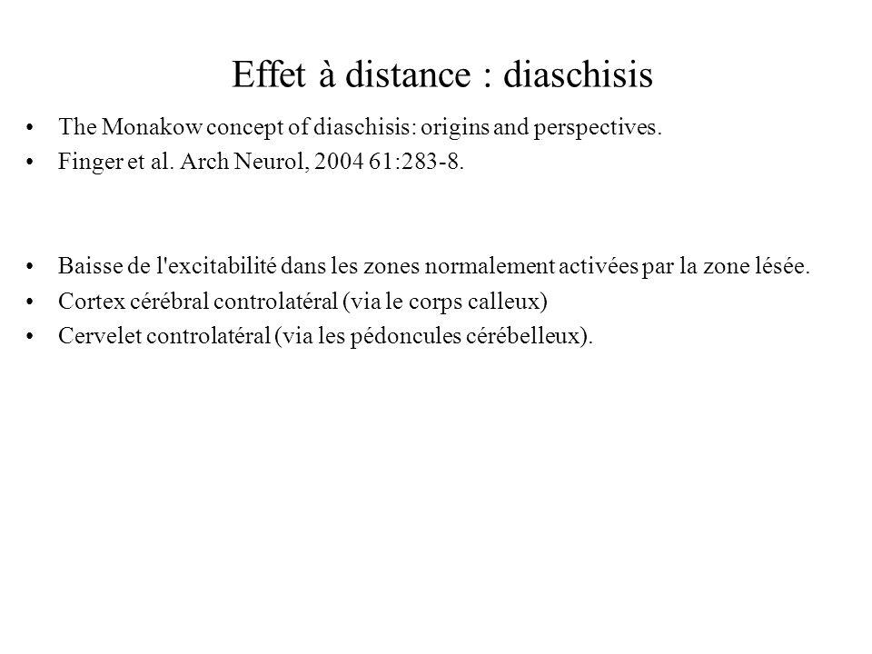 Effet à distance : diaschisis