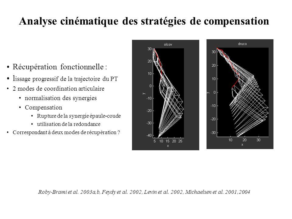 Analyse cinématique des stratégies de compensation