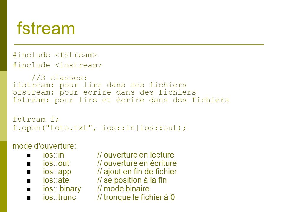 fstream #include <fstream> #include <iostream>