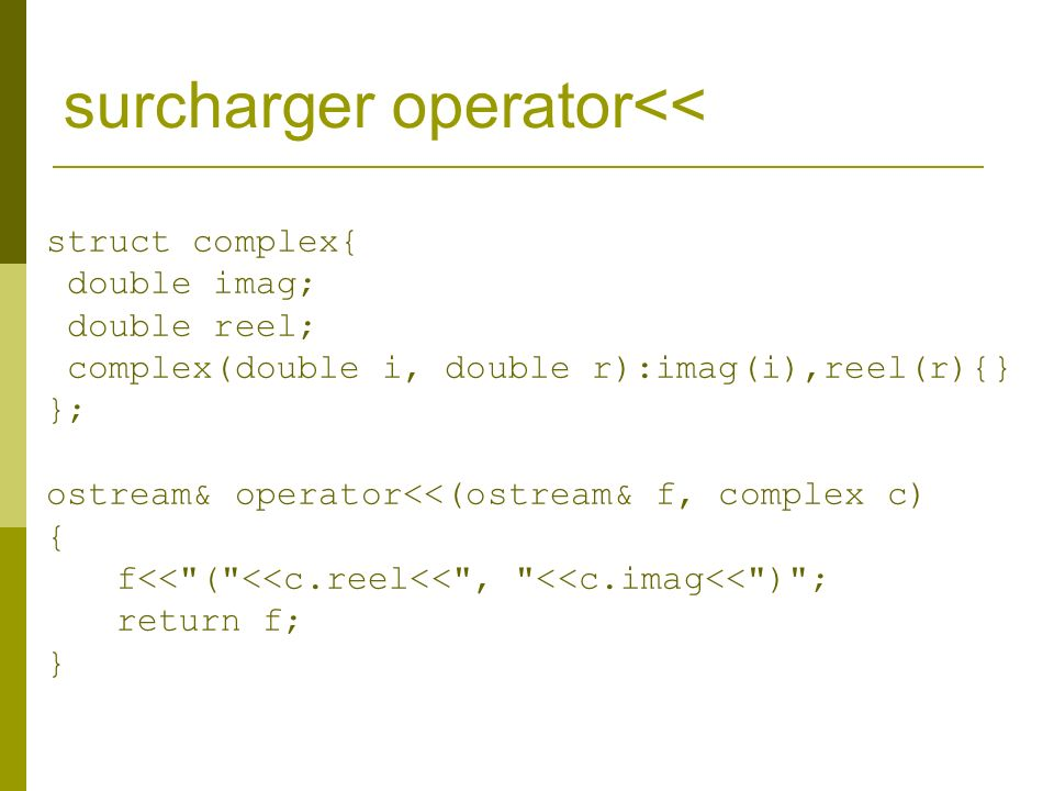 surcharger operator<<