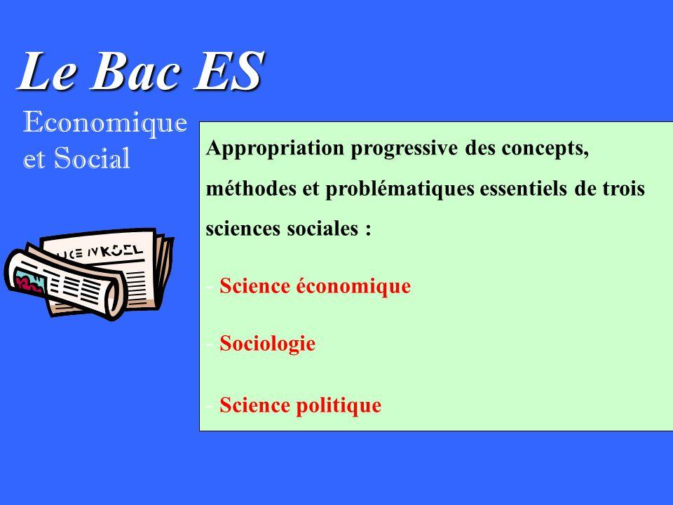 Le Bac ES Economique et Social