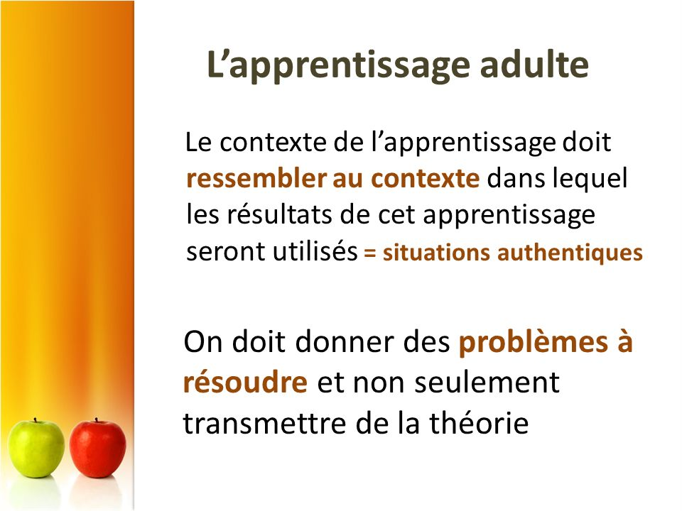 L'apprentissage adulte